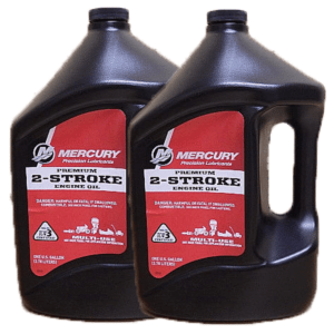 Genuine Mercury Premium 2-Cycle Outboard Oil 1 Gallon 92-858022K01 (2 Pack)