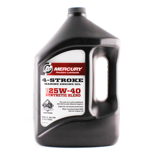 Mercury 4-Cycle Oil - Synthetic Blend - 25W40 1 Gallon 92-8M0078630